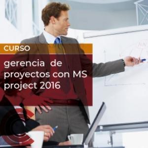 Gerencia  de proyectos con MS project 2016